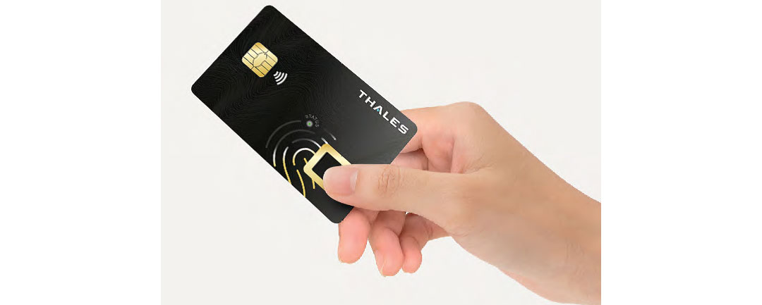 Thales Biometric payment card