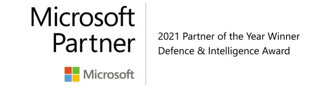 Microsoft Partner. 2021 Partner of the Year Winner Defence & Intelligence Award