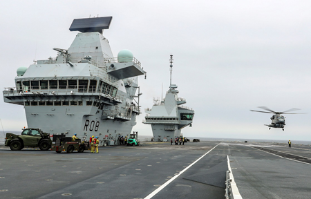 The ships carry Merlin helicopters for protection - Thalesgroup