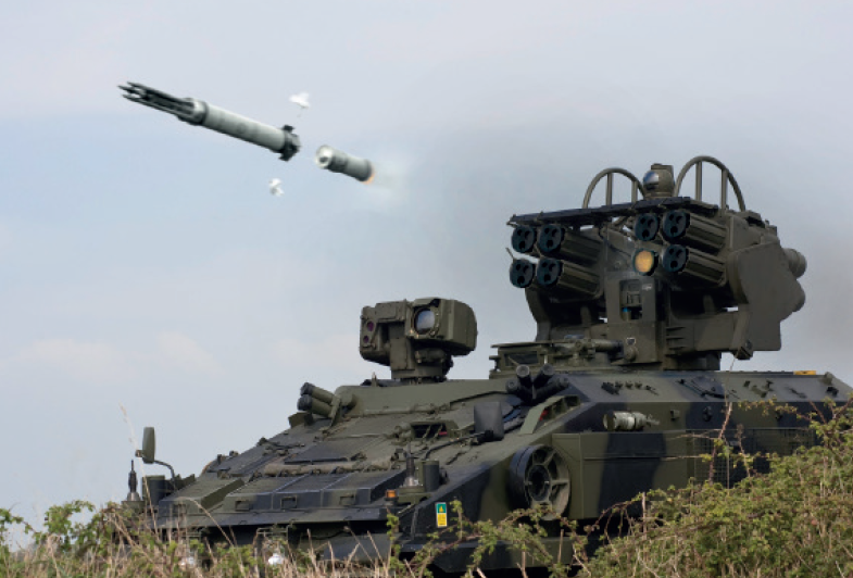 Starstreak HVM missile fired from an armoured vehicle - Thalesgroup