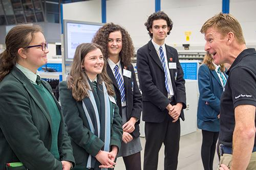 Students meet Tim Peake on a recent visit to Thales's Belfast site - Thalesgroup