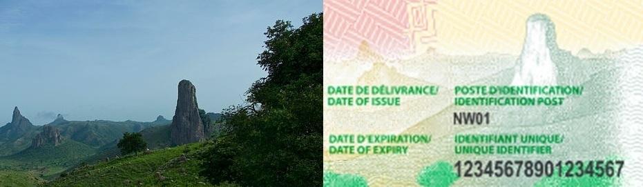 Détail de la nouvelle carte d'identité au Cameroun