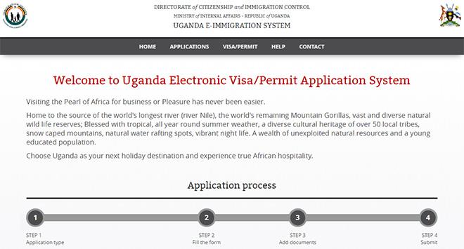 Evisa Uganda Electronic Visa System