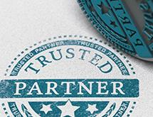 Paper stamped with Trusted Partner