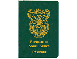 South Africa electronic passport